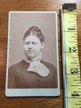 CDV Carte De Viste Busty Young Lady Lace Collar Studio Artwork 1880's! - $6.00