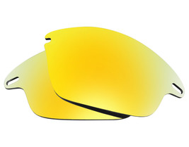 Replacement Lenses for-Oakley Fast Jacket Sunglasses Anti-Scratch Gold Mirror - $8.80