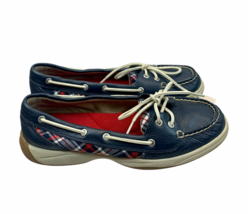 Sperry Laguna Plaid Leather Boat Shoes Comfort Flats Size 8.5 M Womens - $27.59