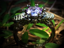 "Haunted ring Nocturnal Djinn ""Thesaurus Nocte"" Treasures of the night  - $95.00"