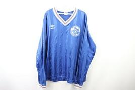 f562537b471 Vtg 80s Umbro Mens XL Long Sleeve Striped Spell Out Futbol Soccer Jersey.