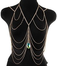 Sexy Beautiful Body Curb Chain Teardrop Necklace - $19.98