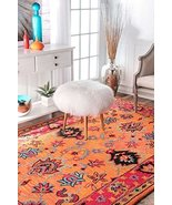 Persian Oriental Area Rug 100% Wool Hand Tufted Carpet Vibrant Fashion D... - $185.90