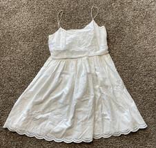 J Crew White Eyelet Dress Size 8 - $34.83