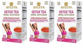 3 x Hyleys Detox Tea Healthy Cleansing Formula 25 tea bags - $15.99