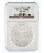 2013- (S) Argento American Eagle Selezionato da NGC come MS-69 - $44.53
