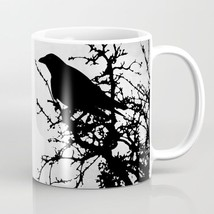 Coffee Mug Cup 11oz 15oz Made USA Design 43 bird crow raven grey black L... - $19.99+