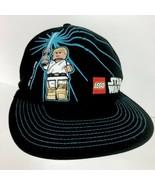 STAR WARS LEGO Skywalk Black Skater Baseball Hat Cap Elastic Back Boys S... - $23.75