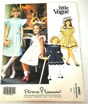Little Vogue 2860 Girls Size 4 5 6 Dress Pleated Pinafore Pattern Uncut - $14.99