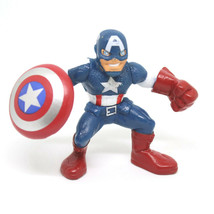 Avengers Super Hero Squad Captain America Action Figure Earths Mightiest Heroes - $13.40