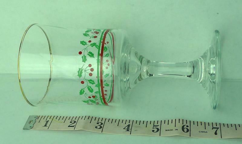 Arbys Arby's Christmas Collection 1985 Glass Holiday Stemware   Vintage image 2