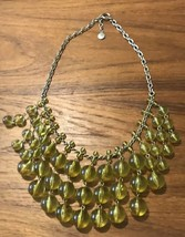 J. CREW Bauble Bubble Necklace Yellow Statement Tiered Ball Lucite Bib J... - $49.40