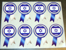 Judaica Atzmaut Independence Israel Flag Ribbon Stickers Children Teaching Aid