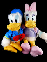 """Disney Parks plush Donald and Daisy Duck 10"""" Mickey Mouse friends Shaggy plush - $23.75"""