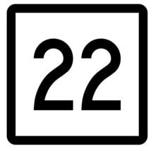 Connecticut State Highway 22 Sticker Decal R5069 Highway Route Sign - $1.45+