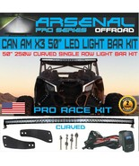 "#1 Can-Am X3 50"" 5D Curved Single Row 250W LED Light Kit Can-am Maverick... - $142.52"