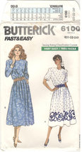 Butterick 6100 Size 24 . Very Easy, dress, short or long sleeves, dirndl... - $3.00