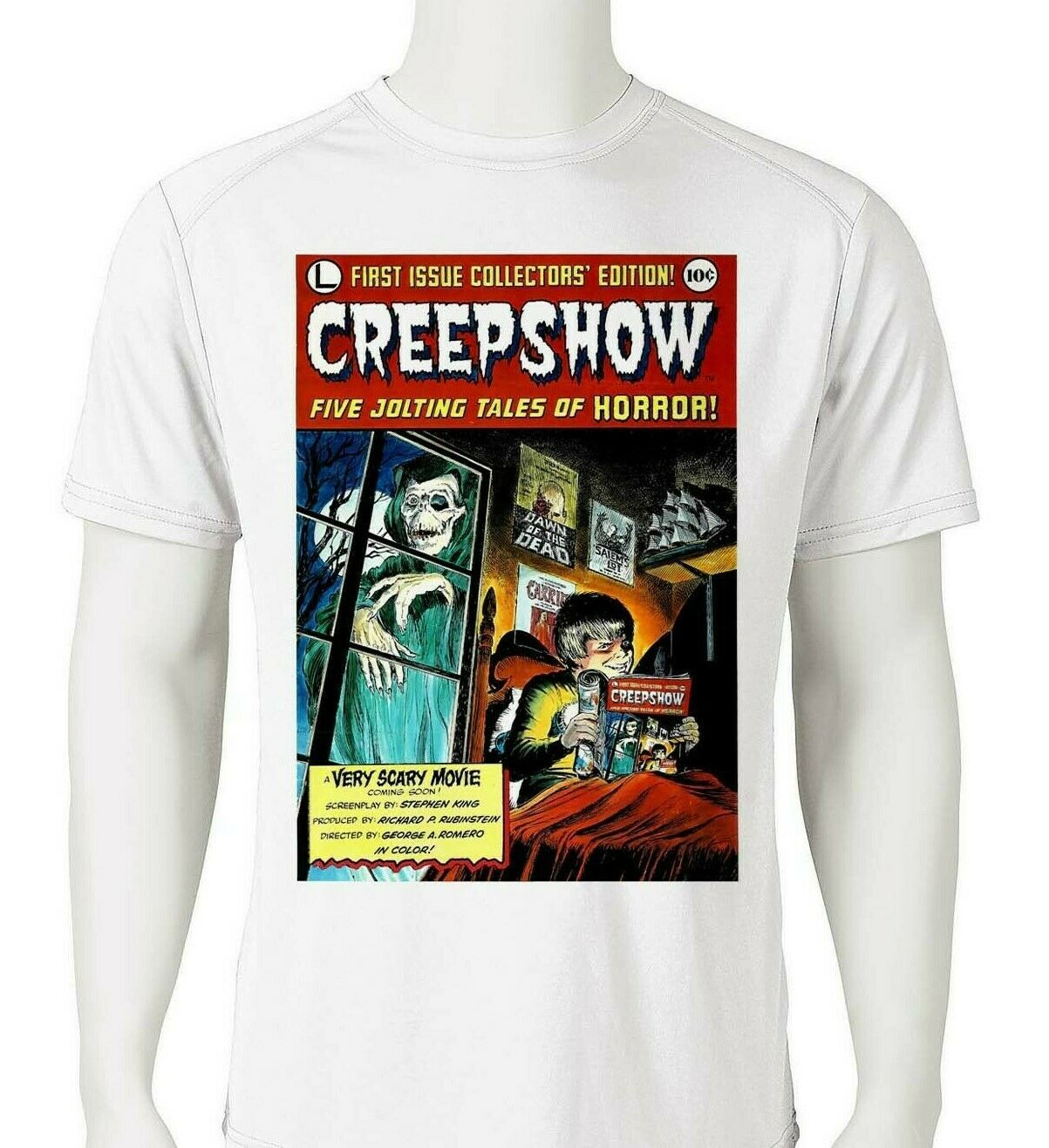 Creepshow Dri Fit graphic T-shirt moisture wicking retro 80s movie SPF tee