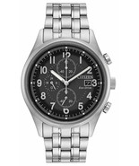 Mens Citizen Eco-Drive Stainless Black Dial Date Chronograph Watch CA062... - $188.08