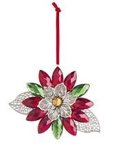 """Ganz Crystal Expressions Acrylic 5"""" Holiday Poinsettia Gem Ornament - $21.20"""