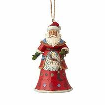 Enesco Jim Shore Heartwood Creek Lapland Santa with Bells Hanging Orname... - $32.86