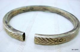 vintage antique tribal old silver armlet bracelet bangle belly dance jew... - $127.71