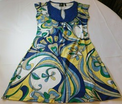 Whynt Mujer Mujer Vestido Talla S PEQUEÑA sin Mangas Multicolor Nwot - $26.67
