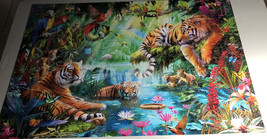 Buffalo Games Jigsaw Puzzle Tiger Lagoon 2000 Pieces 38.5 x 26.5 in. with Poster image 2