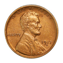 1917 D Lincoln Wheat Cent - Choice BU / MS / UNC - $91.45