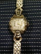 Vintage Helbros Gold 10K RGP Wind Up Ladies Watch Working 1950s 60s era - $14.36