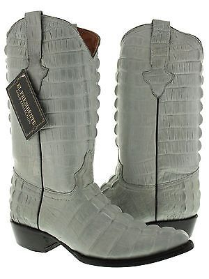 902deb321fdb 1. 1. Previous. Mens Gray Full Alligator Tail Exotic Print Collection Western  Cowboy Boots New