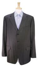 * ERMENEGILDO ZEGNA * Gray Windowpane Check Wool-Silk 3-Btn Sportcoat Bl... - $56.00