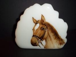 Fenton Glass Quarterhorse Horse Iceberg Paperweight Ltd Ed M. Kibbe #4/14 - $174.12