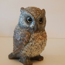 "Vintage Retro 6.25"" Owl Candle Wax Statue Figurine - $17.52"