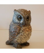 "Vintage Retro 6.25"" Owl Candle Wax Statue Figurine - £12.77 GBP"