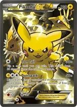 Pokemon Pikachu EX XY124 Promo Near Mint Holo Ultra Rare Full Art Genera... - $13.99