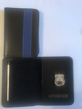 NY Police Officer Thin Blue Line Officer Son   Mini Shield  ID Wallet - $22.28