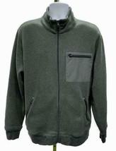J Crew Summit Zip Front Jacket Fleece Coat XL Grey B0694 Mens - $32.19