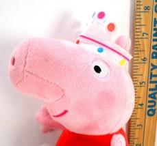 "TY Peppa Pig Crown Dress Beanie Buddy Plush Stuffed Animal Toy 8"" Doll Princess - $10.68"