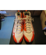 Nike Speed Cleats Orange White Gray Men's Size 16 - $14.69