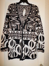 CHICO'S BOWLS REFLECTION CARDIGAN SWEATER NWT CHICO'S 2 M/L - $25.00