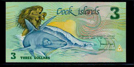 "COOK ISLANDS  P3 $3a 1987  ""GREAT WHITE"" NOTE in PERFECT UNC CONDITION! - $149.00"