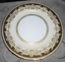 8 Noritake Hand Painted M Gold Floral Cream Dinner Plates Vintage 10 1/2 Cabinet - $189.34