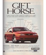 1997 Ford Mustang Car Red Automobile Gift Horse Vintage Print Ad1990s - $6.33