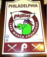 "MLB Philadelphia Phillies  Retro Tin Sign Man Cave Bar Décor 17.5"" H x 1... - $22.72"