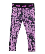 NIKE NEW KIDS GIRLS ESSENTIAL PRINT DRI-FIT ATHLETIC PANTS 4 XSMALL FOR ... - $14.84