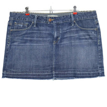 Gap Limited Edition Womens Jean Skirt Size 16 33 Stretch Distressed - $22.23