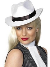 GANGSTER HAT WHITE, 1920'S  FANCY DRESS, GANGSTER, MOLL/FLAPPER, ONE SIZ... - $6.51