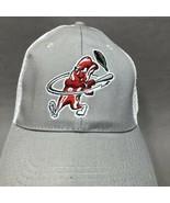 MACON BACON LOGO ADJUSTABLE STRAPBACK MESH BACK CAP/HAT GRAY - $11.98