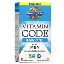 Garden of Life Vitamin Code Raw One for Men, Once Daily Multivitamin for Men, On